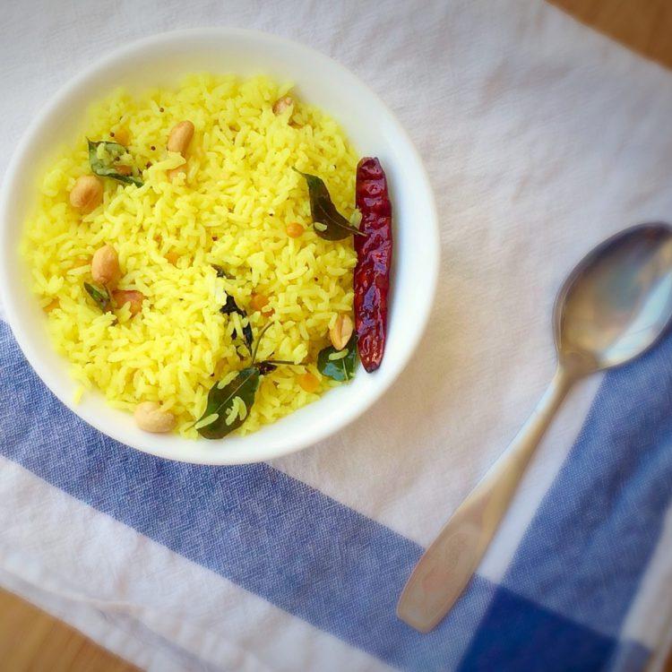 Lemon rice recipe, Elumichai sadam, How to make nimmakaya pulihora