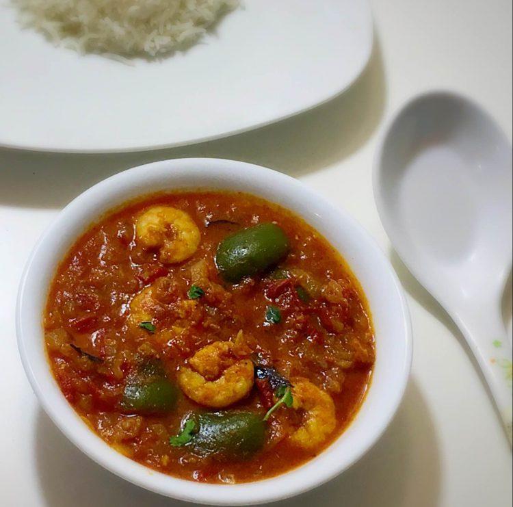 Capsicum shrimp curry recipe