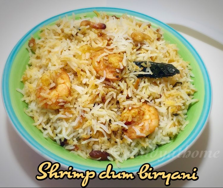 Shrimp dum biryani recipe, Shrimp biryani, How to make shrimp dum biryani, South Indian biryani recipes
