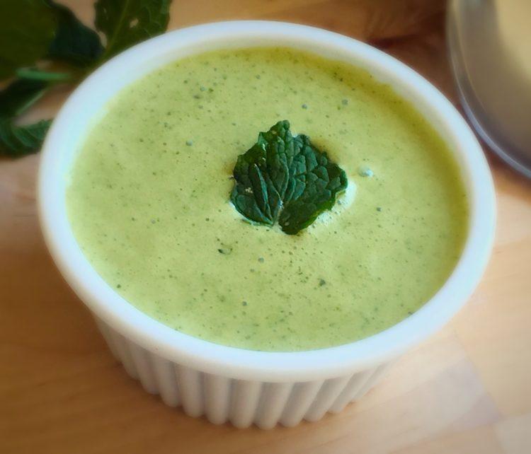 Mint raita recipe, Curd blended in mint mixture, How to make pudina rita