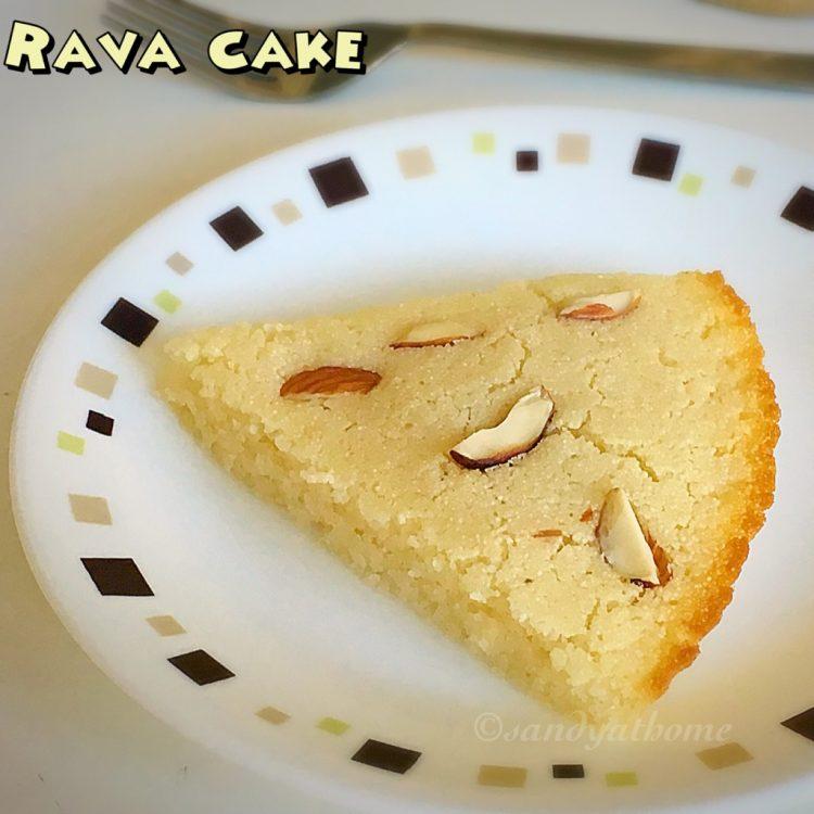 Rava cake, Sooji cake, Semolina cake recipe, How to make rava cake