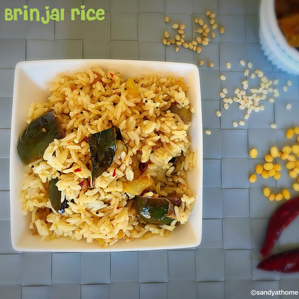 easy lunch recipes,easy dinner recipes,south indian lunch recipes,kathirikai sadam,kathirikai sadam recipe,easy birinjal rice,vangi bath,kathirikal satham
