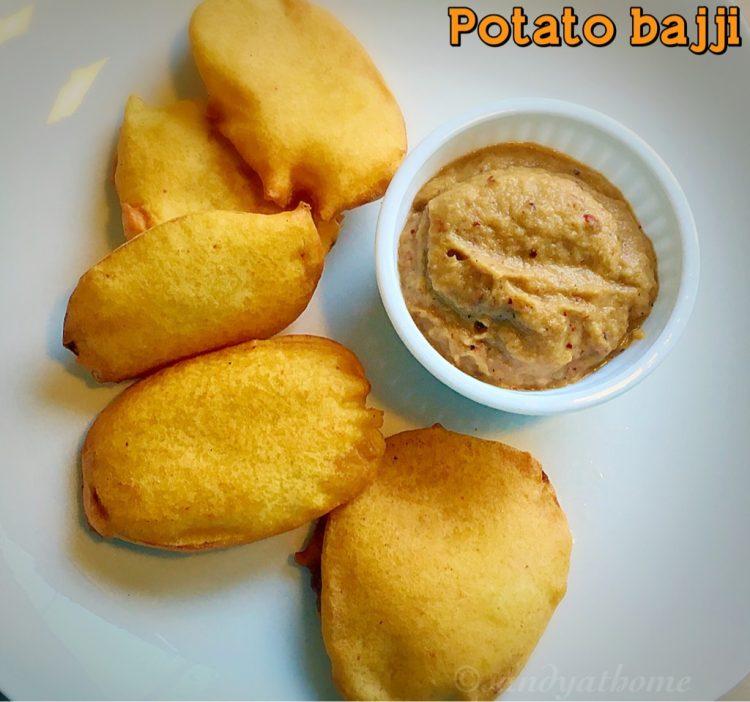 Potato bajji recipe, Aloo bajji, How to make urulai kizhangu bajji