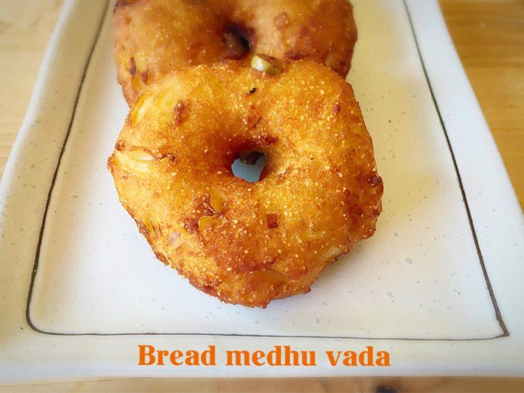 Bread medhu vada, Instant medhu vada recipe, How to make bread vada
