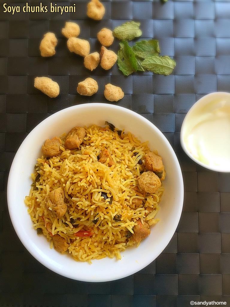 soya chunk biryani, meal maker biryani,soya biryani recipe,easy biryani recipe,vegetarian biryani recipe,quick biryani recipe,soya chunks recipe,soya chunk,meal maker biryani,soya nugget biryani,soya protein biryani,biryani,instant biryani recipe south indian biryani recipes,indian biryani recipes,