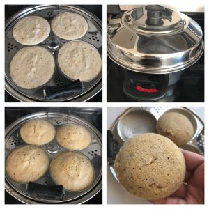 steam idli and serve it hot