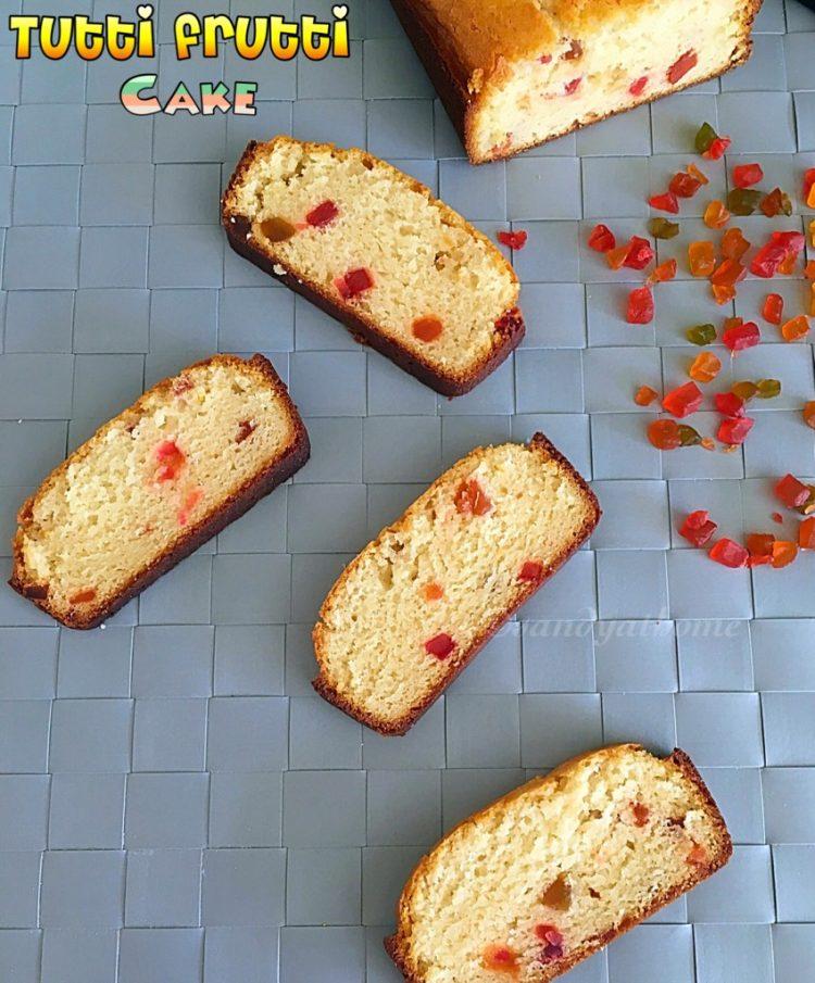 Tutti frutti cake, How to make eggless tutti frutti cake
