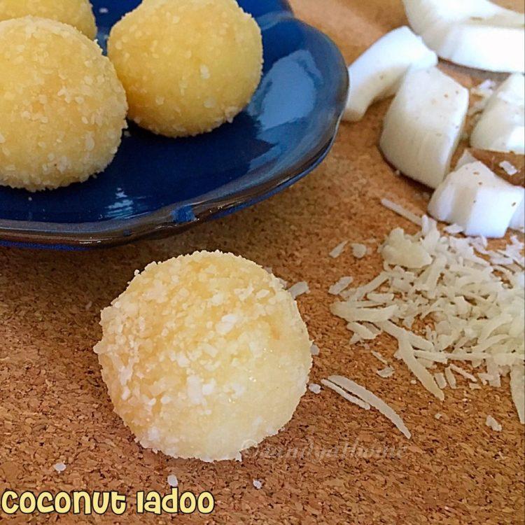 Coconut ladoo recipe (with video), Nariyal ladoo, Ganesh chaturthi recipes