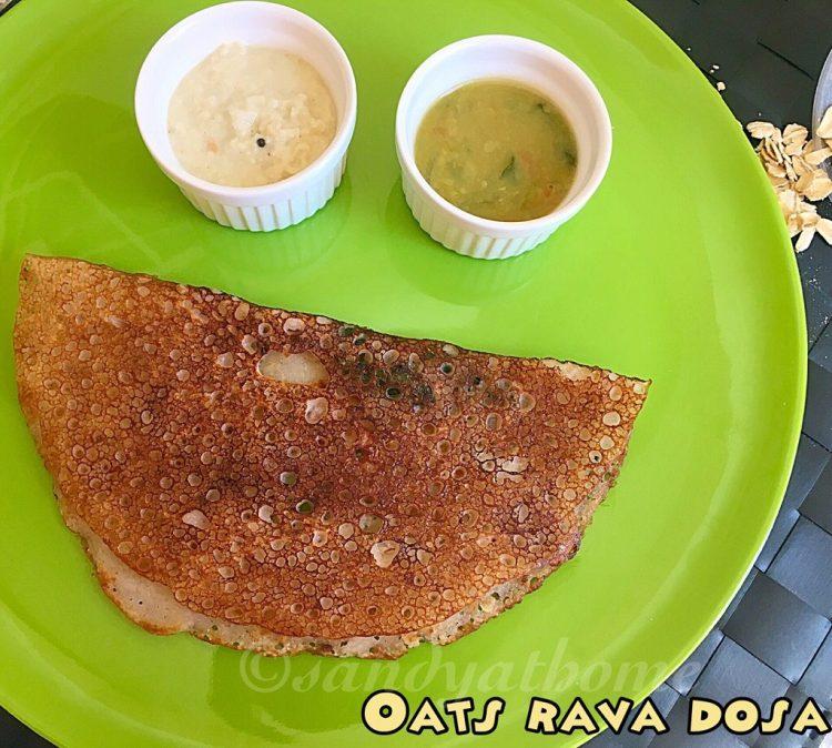 Oats rava dosa, How to make oats rava dosa