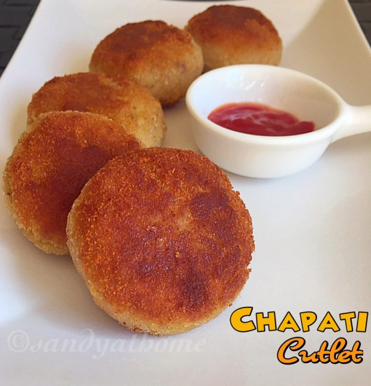 Chapati cutlet recipe, How to make Chapati cutlet