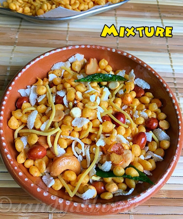 Mixture recipe, South Indian mixture, Snacks recipes