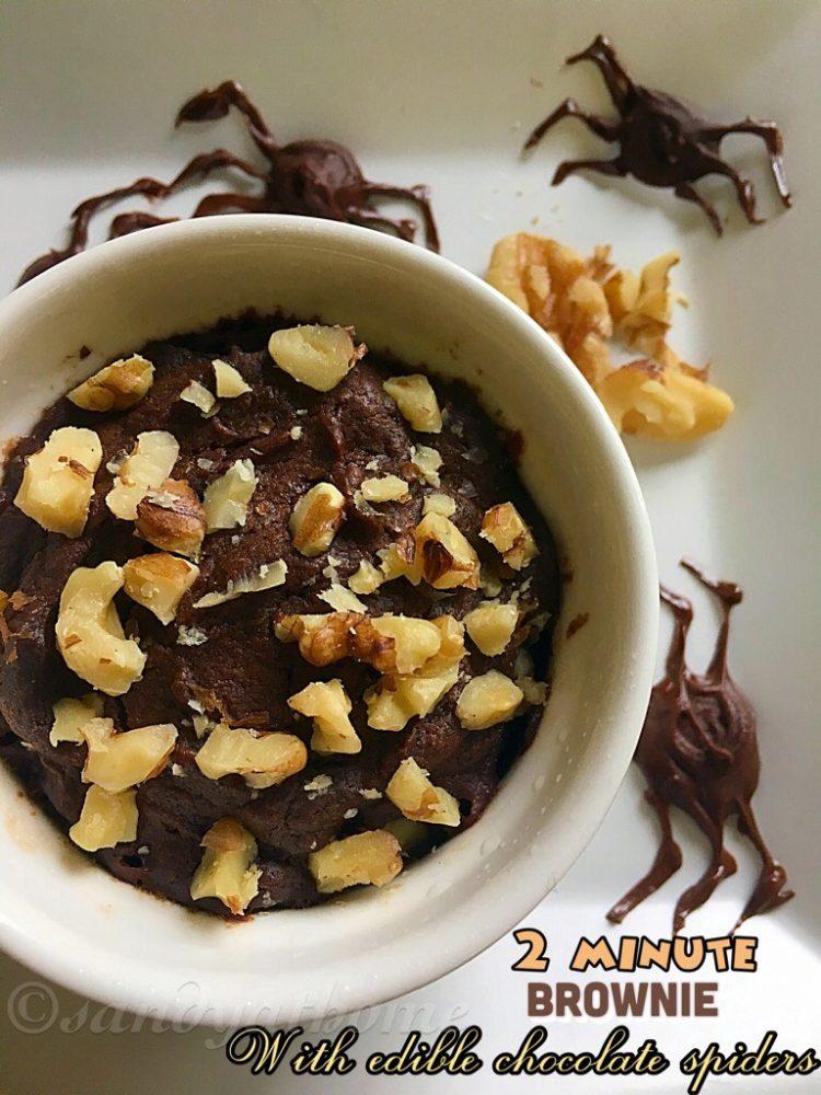 2 Minute Microwave Brownie, Instant brownie recipe