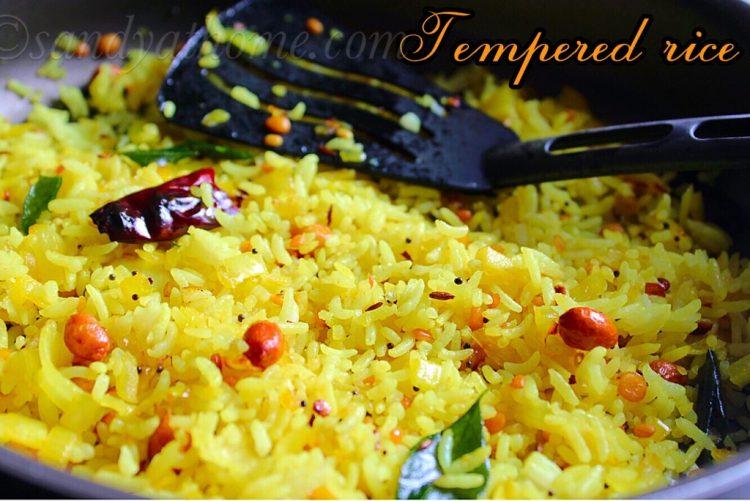 Tempered rice recipe, Talimpu annam, Thalicha Sadam