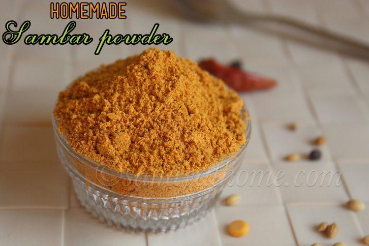 Sambar powder recipe, Homemade Sambar Podi (with video)