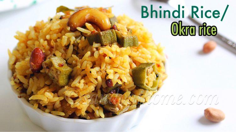 Bhindi rice recipe, Okra rice, Vendakkai Sadam