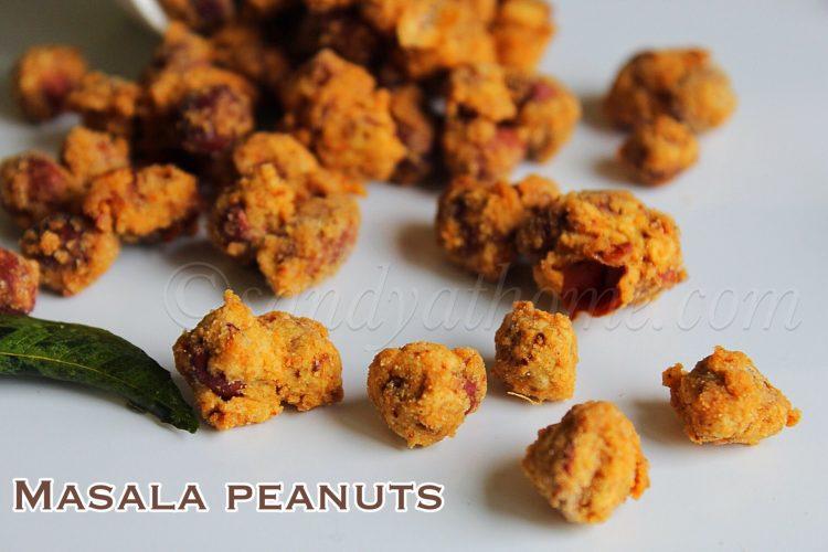 Masala peanuts recipe, Spicy masala peanuts