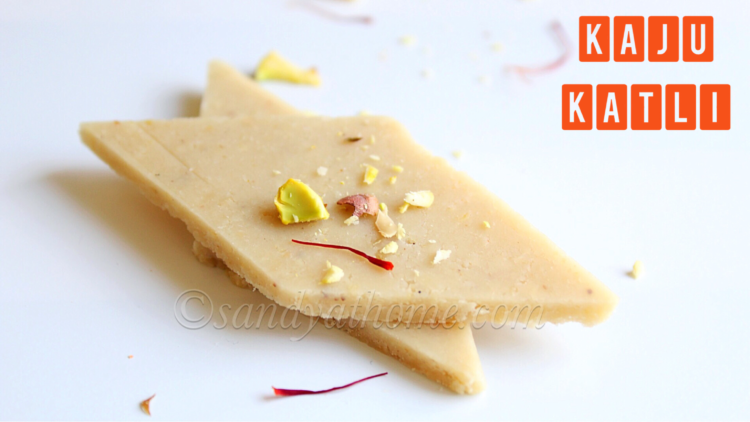 Kaju katli recipe, How to make kaju burfi