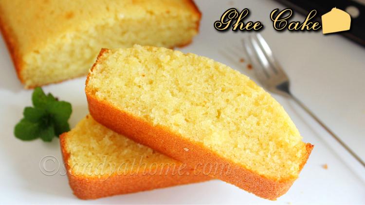 Ghee cake recipe, Easy ghee cake recipe (with video)
