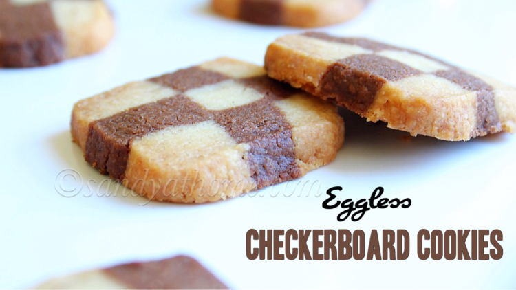 Eggless Checkerboard cookies recipe, Checkerboard cookies