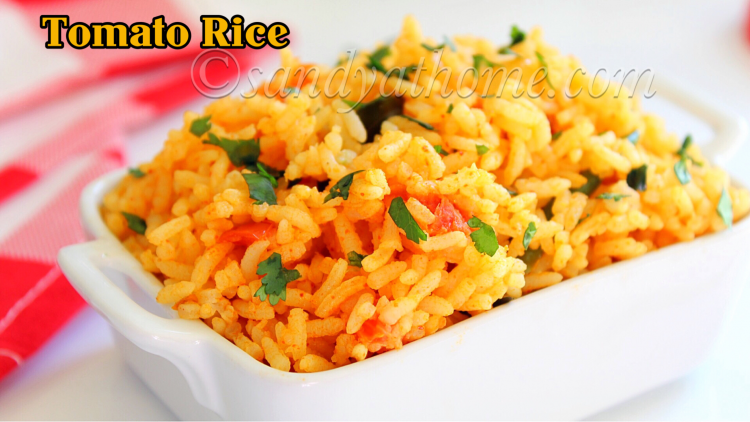 Tomato rice recipe, Thakkali sadam (with video)