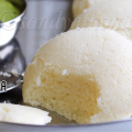 Idli with idli rava