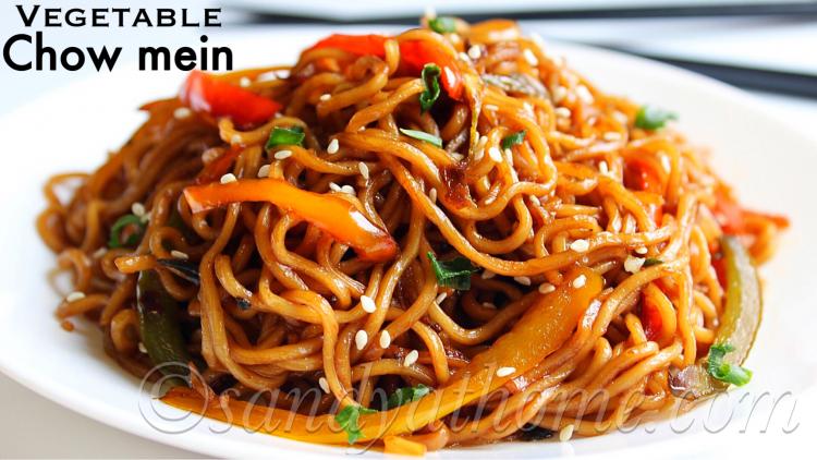 Vegetable chow mein recipe, Veg chow mein