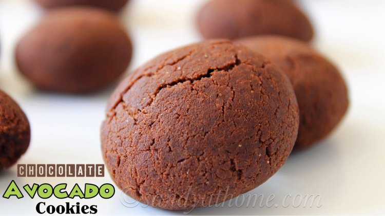 Chocolate Avocado Cookies Recipe, Eggless Chocolate cookies (with video)
