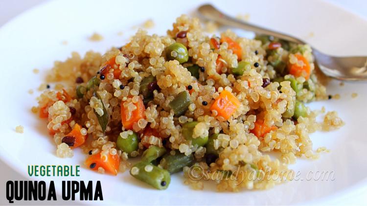 Quinoa upma recipe, Vegetable quinoa upma recipe