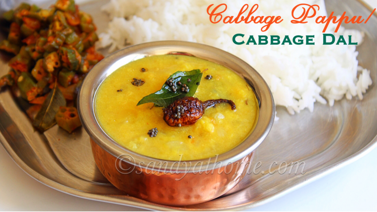 Cabbage Pappu recipe, Cabbage dal, How to make cabbage pappu