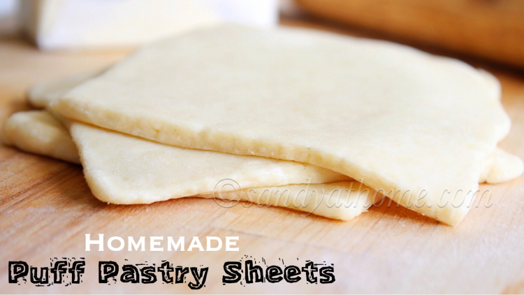 Puff pastry sheets in 15 minutes, Homemade puff pastry sheet