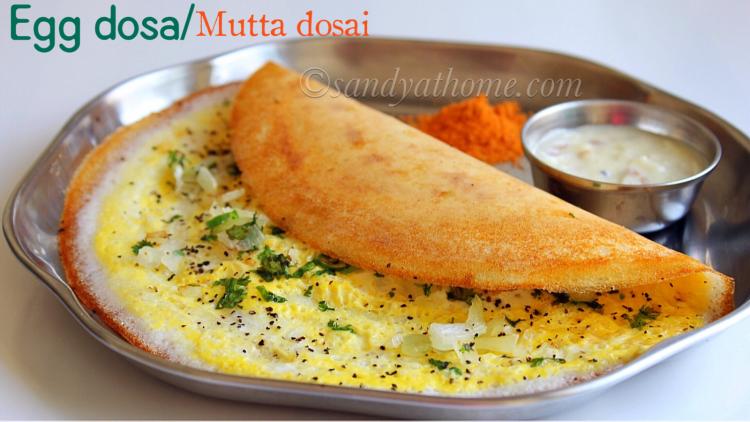 Egg dosa recipe, Mutta dosai, How to make egg dosa