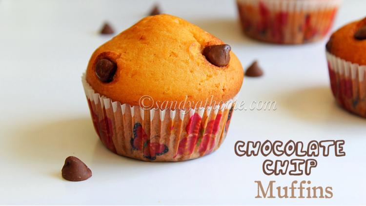 Chocolate chip muffins recipe, Bakery style muffins
