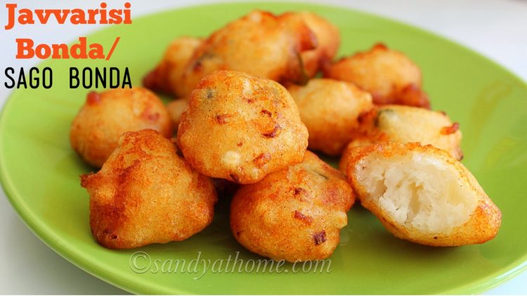 Javvarisi bonda recipe, Sabudana bonda, Javvarisi bonda with idli batter