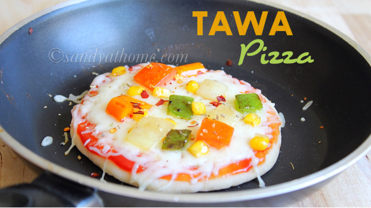 Tawa pizza, Stove top veg pizza, Pizza without oven