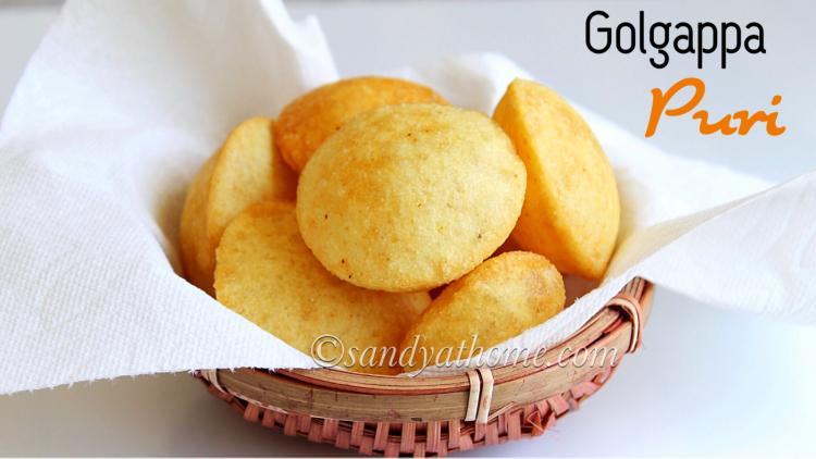 Golgappa puri recipe, Puri for pani puri, Puri for golgappa