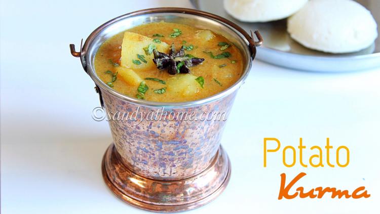 Potato kurma recipe, Aloo Kurma, Easy potato korma