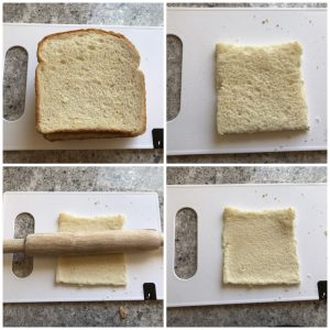 slice bread and roll for bread pizza bombs