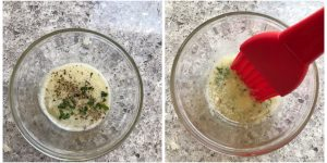 prepare butter mixture for bread pizza bombs