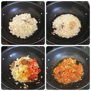 saute onion for egg kurma recipe