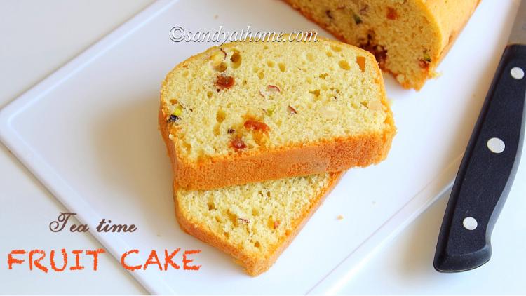 Fruit cake recipe, Dried fruit cake, Tea time fruit cake