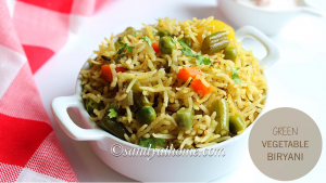 green vegetable biryani