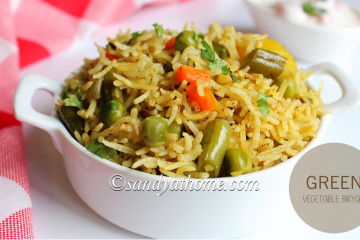 green vegetable biryani recipe, green vegetable biryani, green vegetable, mixed vegetable biryani, biryani