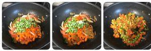saute veggies for khara bath