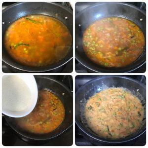 add rava and cook for khara bath