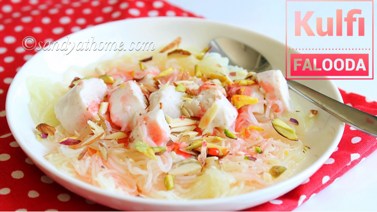 Kulfi falooda recipe, How to make Kulfi falooda