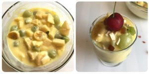 mixed fruit custard