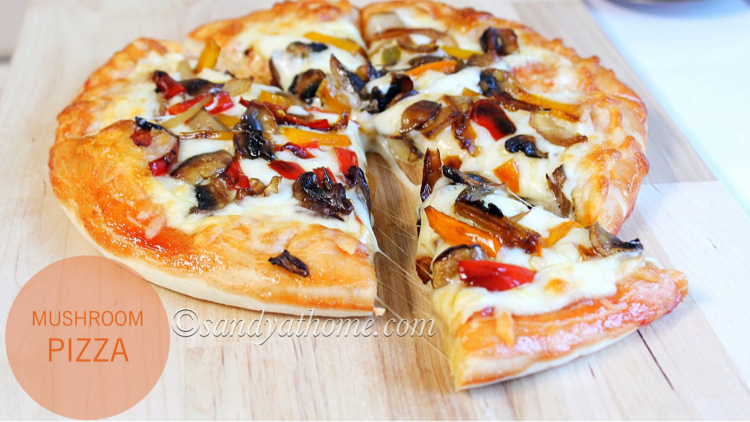 Mushroom pizza recipe, Homemade pizza, Veg pizza