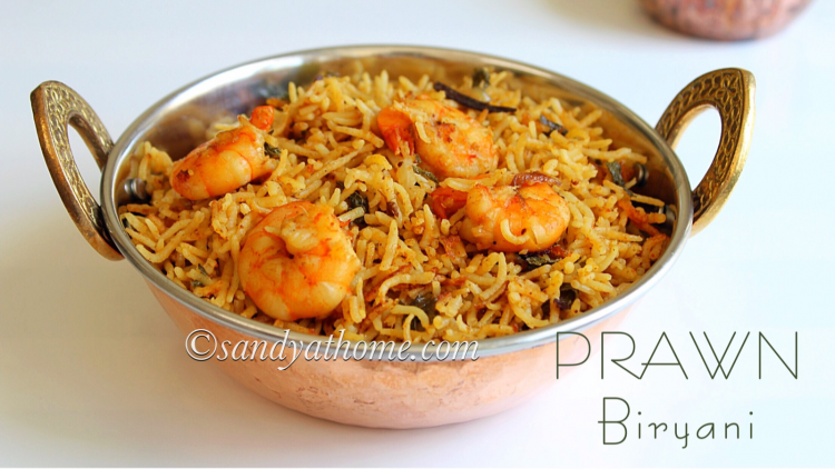 Prawn biryani recipe, Shrimp biryani recipe