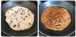 cook dry fruits rava dosa