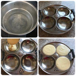 steaming idli dhokla